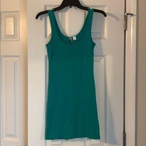 Teal tank dress